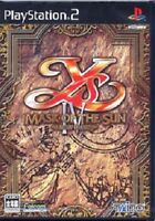 Ys 4 IV Mask of the Sun a new theory PS2 Import Japan