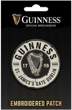 Guinness Bottle Top iron-on / sew-on cloth patch 65mm x 65mm *MULTI BUY OFFER*