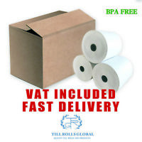 Thermal Till Rolls 80 x 80mm EXTRA LENGTH 40 ROLLS RECEIPT PAPER EPOS