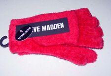 NEW Steve Madden Texting Gloves Convertible Reddish Soft Fuzzy One Size