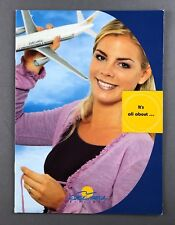 EUROCYPRIA AIRLINES BROCHURE CYPRUS ROUTE MAP