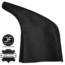 BLACK LEATHER HANDBRAKE GAITER COVER FITS RENAULT TRAFIC MK2 2001-2014