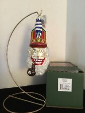 """Woody"" 7"" Slavic Treasures 99-027-A Classic Xmas Ornament Nib"