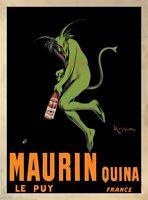 HUGE 38x52 VINTAGE WINE BAR PRINT MAURIN QUINA, 1920 - Leonetto Cappiello Poster