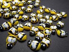 100 Bienen - Holz - Deko - selbstklebend - Klebefläche - Tischdeko - Holzbienen