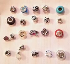 Authentic Pandora Charms 20 Assorted Crystal Rhinestone Bead Charm Spacers new!