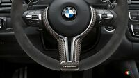 BMW OEM F87 F80 F83 F10 F12 F06 M PERFORMANCE STEERING WHEEL CARBON TRIM COVER