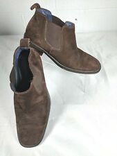 Gordon Rush Italy Men's Dark Brown Suede Chelsea Boots Size 8M Ankle Rubber