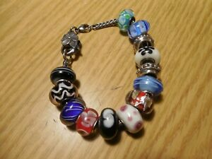LAA 925s Trollbeads Chain bracelet w unmarked and IBB beads