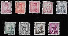Czechoslovakia Scott #293, 294a, 296-99, 301-04 Singles 1945-46 FVF Used