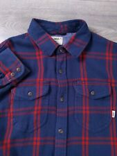 Vans Tailored Fit Plaid Flannel Long Sleeve Shirt Mens Size Small S Pockets