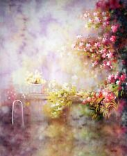 Pintura Floral Vintage Foto De Vinilo De Fondo telón de fondo de hadas 5X7FT 150X220CM