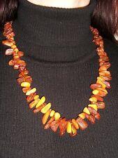 Genuine Antique semi-transparent and Batterscotch Baltic Amber Necklace 55 Gr