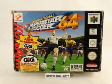 INTERNATIONAL SUPERSTAR SOCCER 64 ISS PES NINTENDO N64 PAL ITALIANO GIG COMPLETO