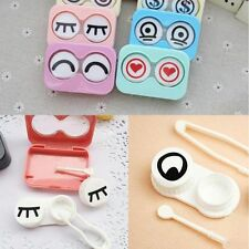 Easy Carry Pocket Case Container Eye Shape Contact Lens Box Eye Case Holder