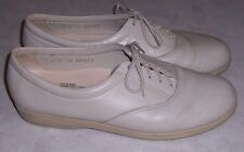 SAS Tripad Comfort Womens Size 10N Bone Leather Oxfords Lace Up Walking Shoes