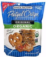 Snack Factory Organic Pretzel Crisps Original Thin Crunchy Crackers 28 OZ