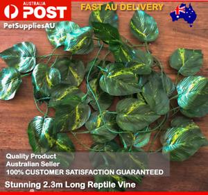 2.3m Terrarium Plant Reptile Fake Vine Leaves Reptile Enclosure Accessory Decor