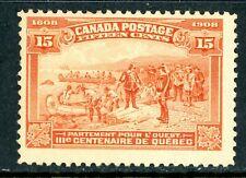 Canada 1908 Quebec Tercentenary 15¢ Champlain Scott  #102  Mint R80