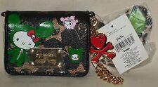 TOKIDOKI x Hello Kitty Sandy Black Bi-fold Wallets with Charm Sanrio 2008 NWT