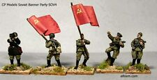 CP Models SOV4 20mm Diecast WWII Red Army Banner Party-Flags NOT included-5 figs