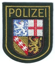 German Police/Saaland Patch old green Uniform, RARE, I/II