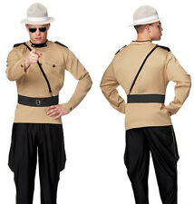 ADULT MENS LARGE/XL STATE TROOPER COSTUME CANADIAN MOUNTY COP POLICEMAN MOUNTY