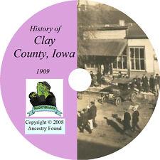 1909 CLAY County Iowa IA - History & Genealogy -  Ancestry Spencer - CD DVD