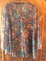 Vintage 90s Sheer Oversized Shirt Dress 10/12/14/16 Blogger Beach Festival