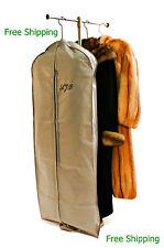 "2 Personalized Fur Storage Bags Zippered 60"" Long w/Handles Coat, Jkt Free Ship"