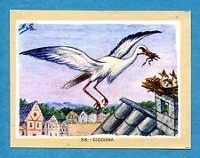NATURAMA - Lampo 1968 - Figurina-Sticker n. 216 - CICOGNA -Rec