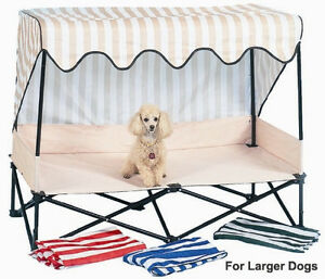 Dog Kot to Trot Senior Outside travel Bed shade patio toy terrier kennel house
