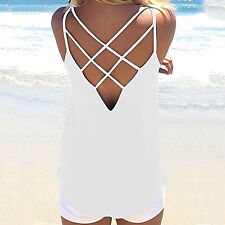 2017 Summer Fashion Sexy Women Tank Top Ladies Camisole Sleeveless Vest Backless