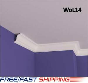 8x8 cm XPS Polystyrene Lightweight Coving Cornice Finest Quality Nextday Deliver