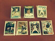 1981 1986 1988 1990 1996 2006 2008 Topps San Diego Padres Team Sets  7 Team sets
