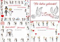 4 x 25 St. Ballonkarten / Luftballon Karten/ Ballonflugkarten für Hochzeit