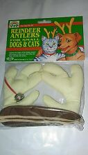 "VOTOYS XMAS WHITE ANTLERS 4"" BY 6"" DOG CHRISTMAS HOLIDAY. FREE SHIP TO THE USA"