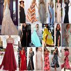 Womens Boho Summer Casual Floral Sundress Party Beach Long Maxi Chiffon Dress