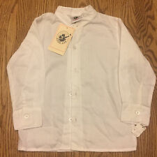 New Toddler Boy Good Lad Button Front Shirt White 4T
