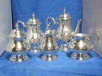 LUNT  -- Sterling Silver 5 piece  set -- Tea, Coffee, Sugar, Cream & Waste Bowl