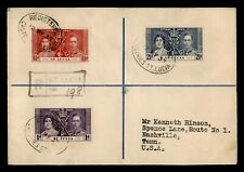 Dr Who 1937 St. Lucia Kg Vi Coronation Fdc Registered C201980