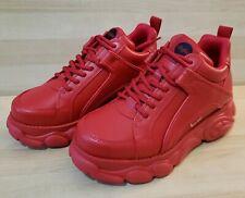 BUFFALO Corin Platform Chunky Sneakers Triple Red Fashion london Wedge shoes 130
