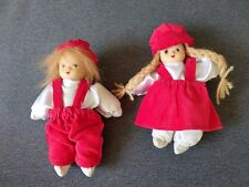 Vintage Austrian/Swiss/German Bisque Face Christmas Small Boy & Girl Doll