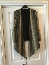 Animal Print Top And Light Waterfall Jacket By Jones Of New York