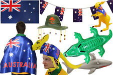 AUSTRALIAN DAY PARTY FANCY DRESS CHOOSE ACCESSORY HAT FLAG BUNTING INFLATABLE