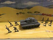 BMC Grey Tiger Tank with Antique Marx Germans   Diorama