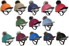 My LeMieux Skull Cap Lycra HAT SILK Removable Pom Pom NEW WINTER 2020 COLOURS