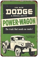 "The Dodge Power-Wagon Rustic Retro Metal Sign 8"" x 12"""