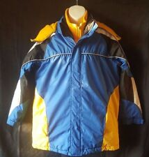 NorthPoint Outerwear Boys Winter Double Coat Jacket Size 14/16 Blue & Yellow