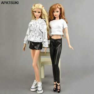 """Black Elastic Leather Shorts Pants For 11.5"""" Doll Clothes Bottoms Outfits 1/6"""